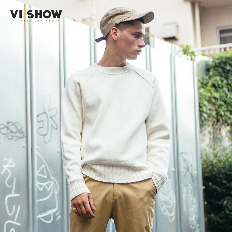 VIISHOW мужской свитер, пуловер, брендовая одежда, качественный мужской белый свитер на осень и весну, Рождественский свитер, ZC1753173