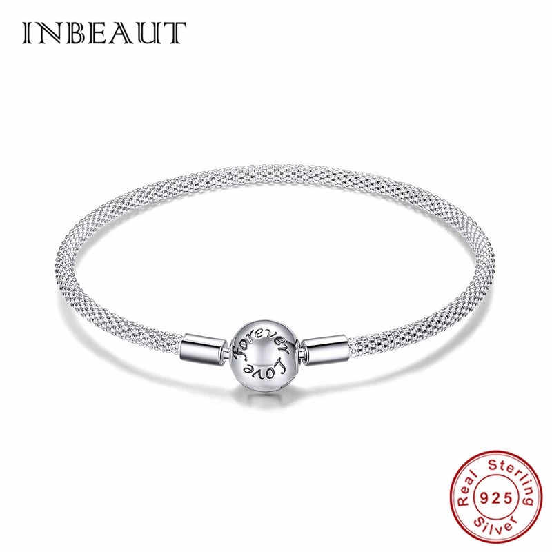 100/% Real 925 Sterling Silver Open Bangle Bracelet With Clear CZ Bangle Bracelet Fit DIY Jewelry European Charm Beads