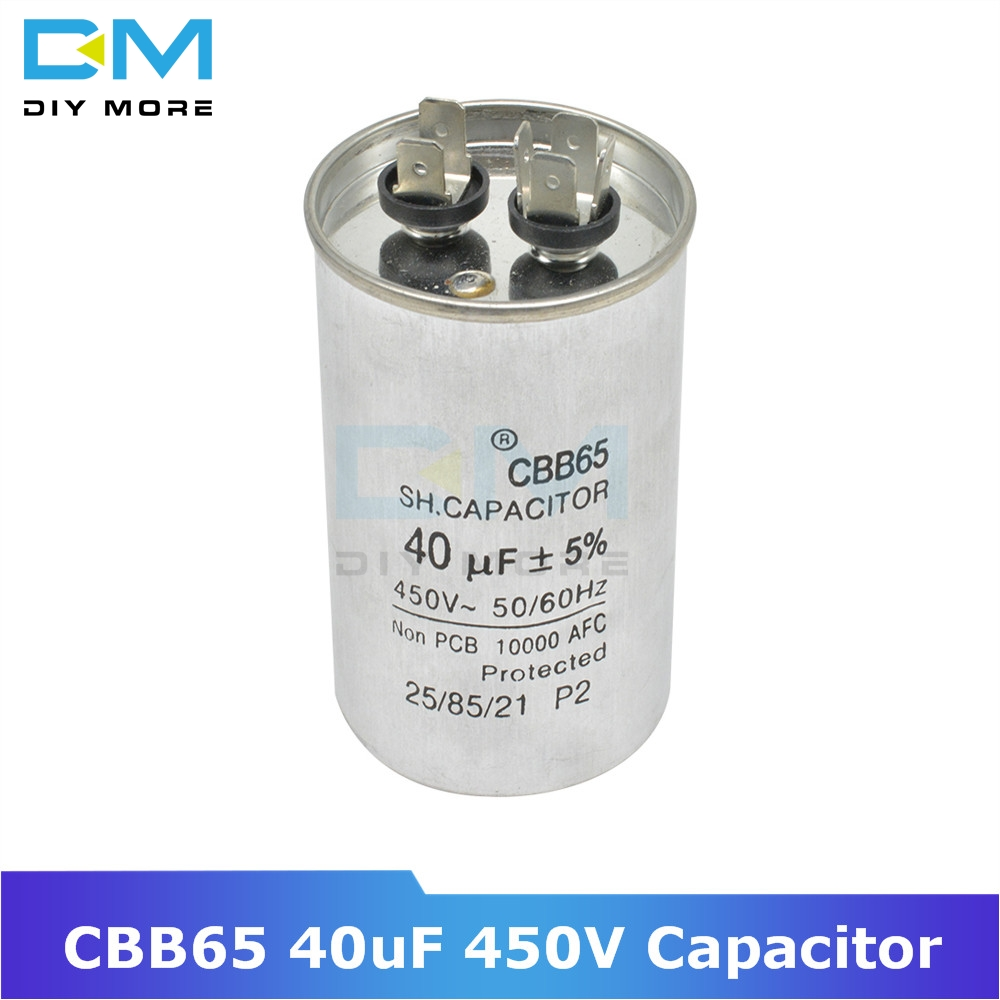 CBB65 40uF 450V AC Motor Capacitor Compressor Air Conditioner Start Capacitor For Washing Machine High-power Lighting Fixtures