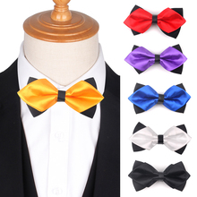 New Pointed Solid Bow Tie Classic Mens Bowtie For Business Wedding Bowknot Adult Bowties Cravats Yellow Red Men Women
