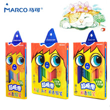 Marco 36 Pcs Color Pencil Non-toxic lapis De Cor Profissional Colored Pencils For Children Toys Gifts Crayons School Supplies 72 108 pcs set colored pencil water soluble color pencil drawing design art school supplies non toxic color pencil lapis de cor