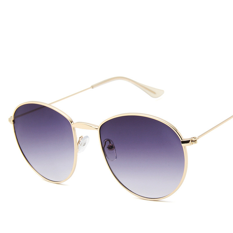 Retro Round Sunglasses Women 2019 Luxury Brand Designer Mirror Sun Glasses High Quality Vintage Lunette De Soleil Femme