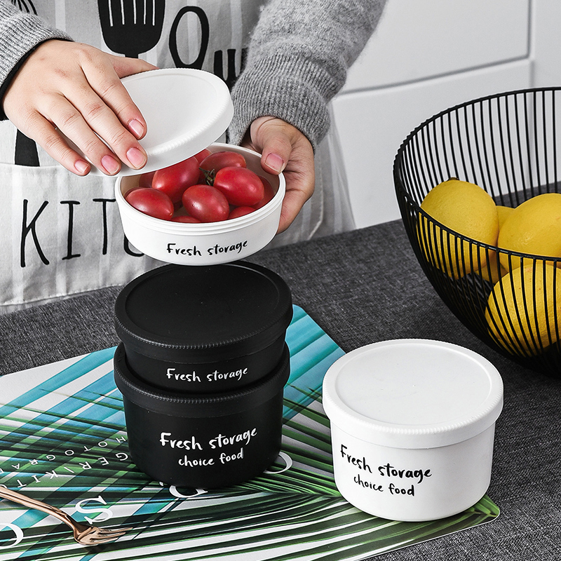 Stackable PP Plastic Rotated Lid Food Storage Jars Kitchen Spices Fridge Fruit Small Containers With Lid Storage Jar Organizer