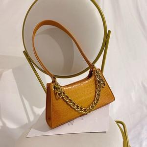 Image 3 - Leather Crossbody Bag For Women Mini Fashion Messenger Bag Retro Evening Handbag Chain Shoulder Bags Small Purse Female boston