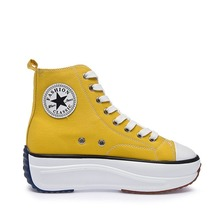 Canvas Shoes Sneaker Trainers Women High-Top Female Autumn Lady Footwear