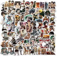 100PCS Attack on Titan Sticker Anime Icon Animal Stickers Gifts for Children To Laptop Suitcas Bicycle Car DIY PVC Stickers