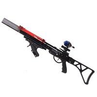 Nettuno 8 Slingshot Caccia Catapulta Potente Scatto Continuo 40 giri Steel Ball Ammo Freccia con Manico Pieghevole per la Caccia