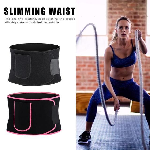 Adjustable Pocket Fitness Waist Belt Neoprene Weight Loss Slimming Sweat Waistband Exercise Belly Body Beauty Waist Support