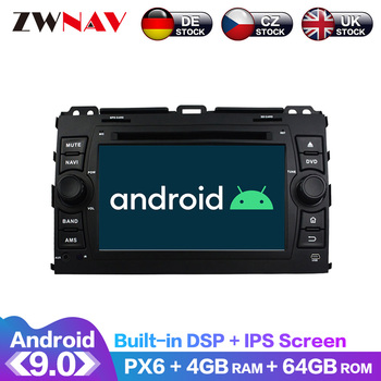Android 9 IPS Screen PX6 DSP For TOYOTA PRADO Land Cruiser 120 2004-2009 Car DVD Player GPS Multimedia Player Radio Audio Stereo