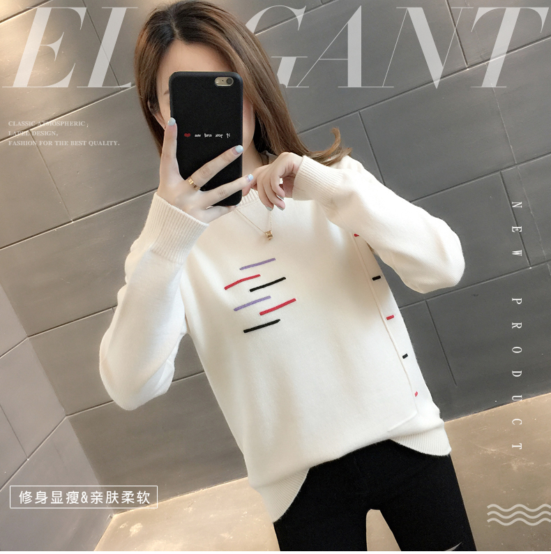 Sweaters women's 19 new fashion Korean loose autumn winter knitting bottoms wear Western clothes 4