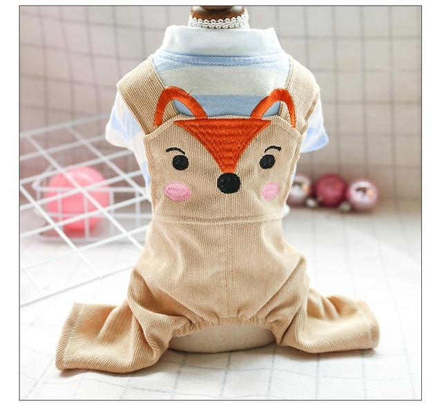 Лиса вариант домашних животных одежда в полоску для мальчиков