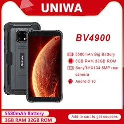 Новый Blackview BV4900 IP68 водонепроницаемый смартфон 5,7 дюйма 3 ГБ + 32 ГБ 5580 мАч Android 10 телефон NFC прочный мобильный телефон