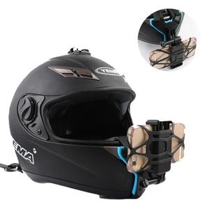 Image 1 - Кронштейн для мотоциклетного шлема адаптер с держателем для телефона для камеры GOPRO iPhone Samsung Huawei аксессуары для телефона