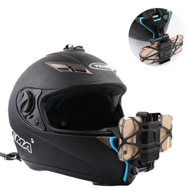 Кронштейн для мотоциклетного шлема адаптер с держателем для телефона для камеры GOPRO iPhone Samsung Huawei аксессуары для телефона
