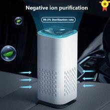 Purificador de ar purificador de ar para casa filtros hepa cabo usb baixo ruído portátil carro casa xiomi purificador de ar com luz da noite desktop