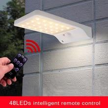 48/100/118 LED Solar Lamp Solar Light Outdoor Powered Sunlight Waterproof PIR Motion Sensor Street Light for Garden Decoration