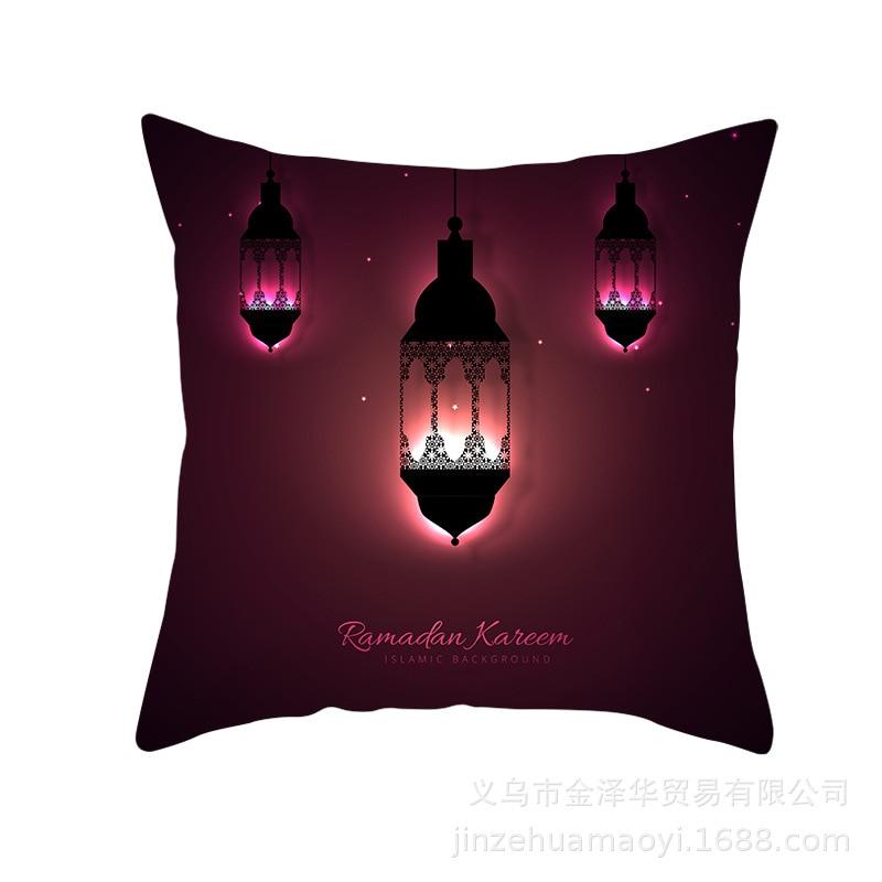 45*45Cm Pillow Case EID MUBARAK Ramadan Decor Islamic Ramadan Eid Decor For Home Eid Al Adha EID Muslim home decor Ramadan Gift