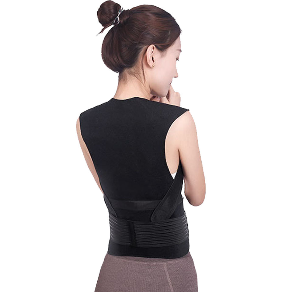 Tourmaline Self Heating Posture Corrector Belt with Nano Infrared Acupuncture Dot Matrix  to Support Spine and Shoulder Helps to Relieve Pain in Back and Joints 4
