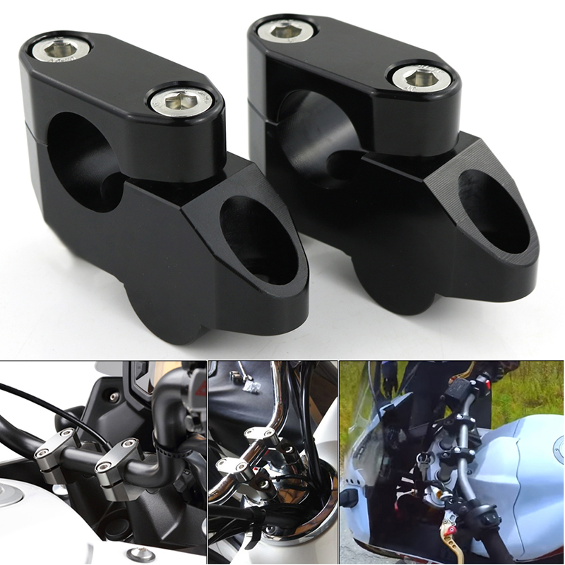 For Honda CBF1000 CBF500 CBF600 CBX650 CB1000R CB1000 CB1300 NC700S NC750S NC750 Mount Extension Back Moved Up Handlebar Risers