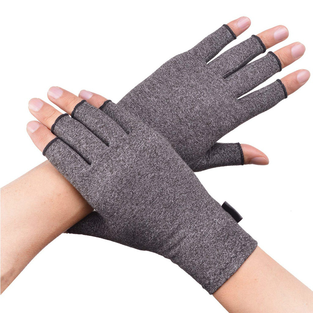 WorthWhile 1 Pair Compression Arthritis Gloves Wrist Support Cotton Joint Pain Relief Hand Brace Women Men Therapy Wristband 3