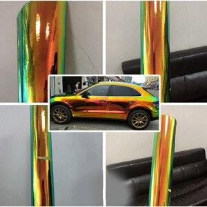 Image 5 - AuMoHall Olografica Arcobaleno Autoadesivo Dellautomobile del Bicromato di Laser Placcatura Del Corpo di Automobile Pellicola Dellinvolucro Styling Auto FAI DA TE
