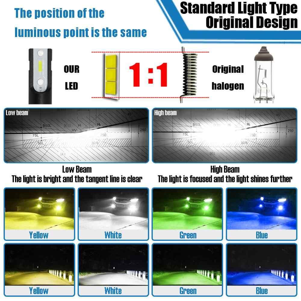 Auto HA CONDOTTO LA Lampada Della Nebbia 1860 CSP Chip 14000Lm 40W Bianco Giallo Verde Blu H1 H3 H7 H8 H9 H10 h11 H16 H27 881 880 9005 HB3 9006 HB4 5202