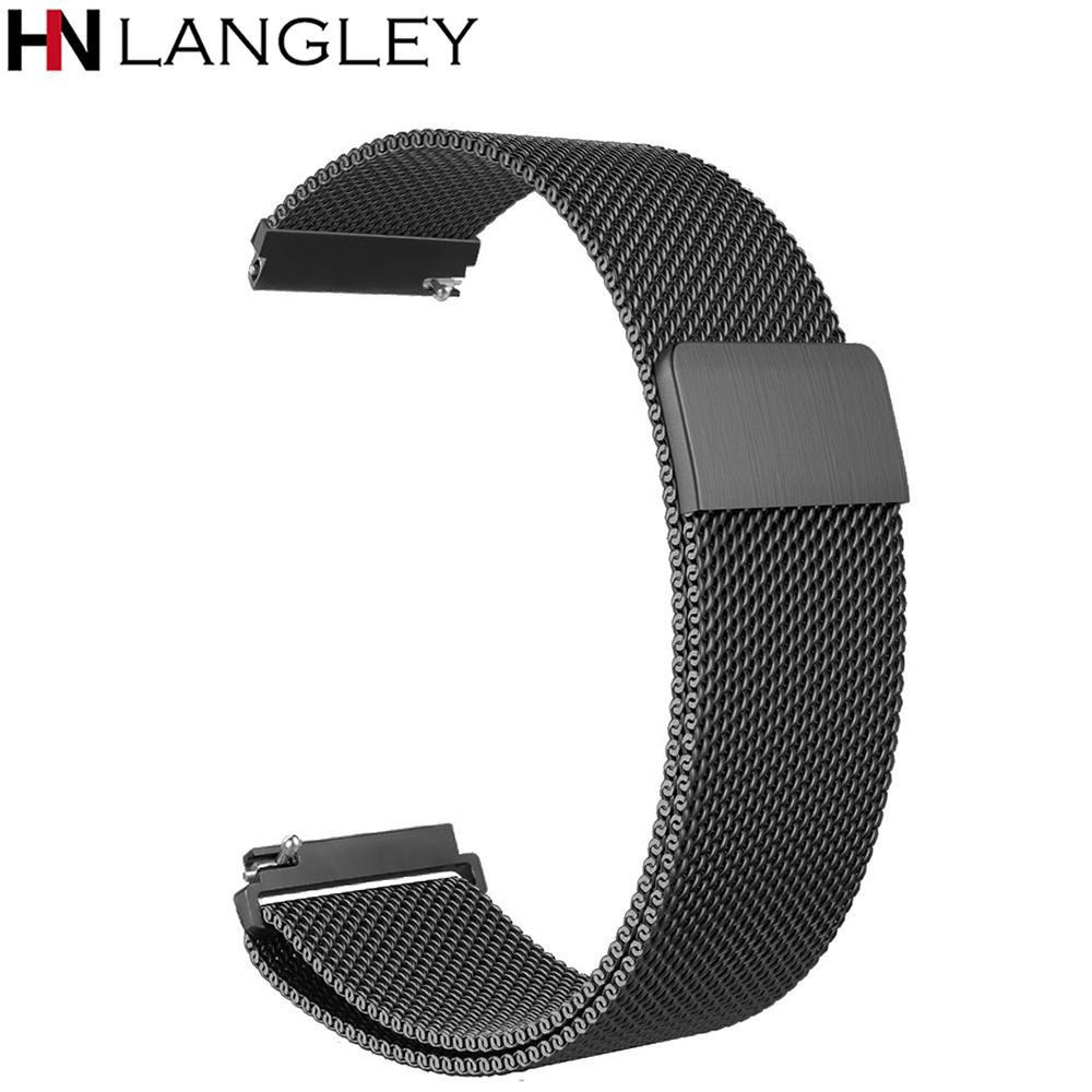 For Garmin Vivoactive 3 Band 20mm Quick Release Milanese Loop Stainless Steel Watch Strap Vivomove HR/Forerunner 645 Music Bands