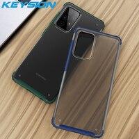 KEYSION-funda de teléfono mate para Samsung A52 5G A72 A42 A32 A12 A02S, funda transparente a prueba de golpes para Galaxy F62 M62 M02S M12