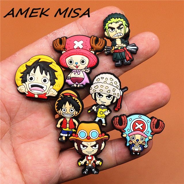 1pcs Cartoon Pirate King Roronoa Zoro Shoes Decoration Accessories Original Jibz for Croc Charms for Shoes Bracelets Kids Gifts