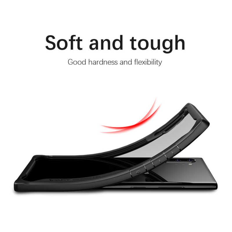Do Samsung uwaga 10 przypadku iPaky uwaga 10 Plus silikonowe akrylowe hybrydowa, odporna na wstrząsy, przezroczysty futerał do Samsung Galaxy Note 10 + etui