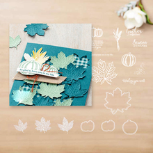 JC384 Maple leaf Metal Cutting Dies and stamps Scrapbooking For Paper Making Supplies Embossing Frame Christma
