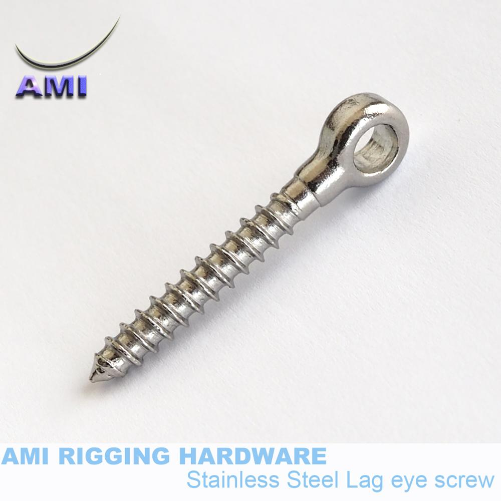 1x  Marine Grade Stainless Steel lag Screw Lifting Eyebolts Eye Bolt 6*60