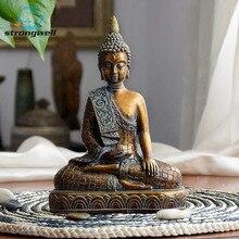 Strongwell Resin Imitation Copper Buddhism Bodhisattva Sakyamuni Buddha Statue Sculpture  Head Craft Decor