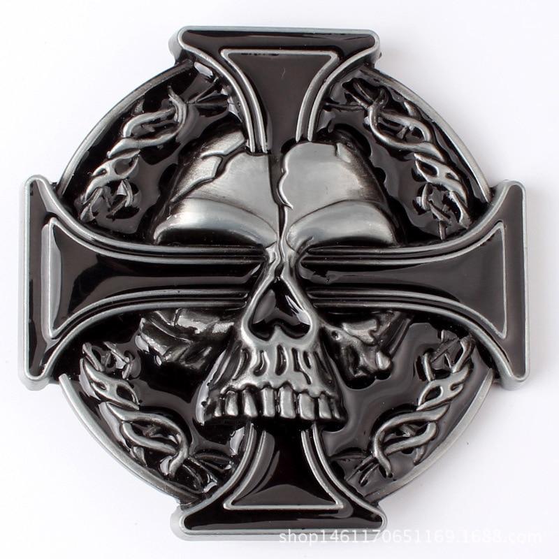 Skull skeleton belt buckle Belt DIY accessories Western cowboy style Smooth belt buckle Punk rock style k15