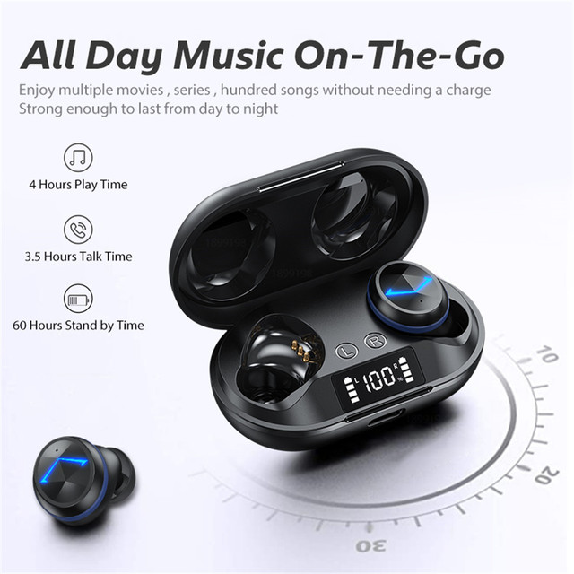 Wireless Headphones TWS Bluetooth 5 0 Earphones Smart Noise Cancelling Sport Waterproof Headset Music Headphones With Microphone
