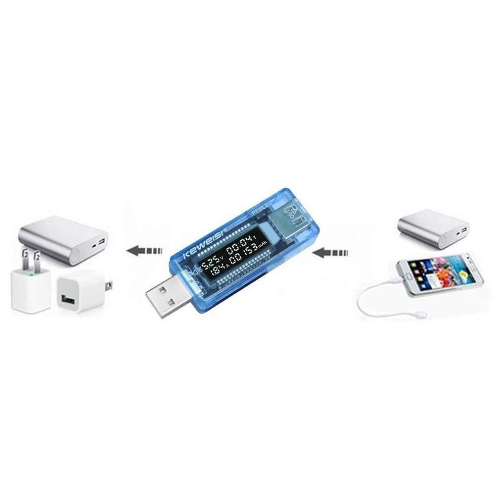 Lcd usb 배터리 전압계 볼트 전류 전압 테스터 의사 충전기 용량 테스터 미터 전류계 전원 은행 진단 도구