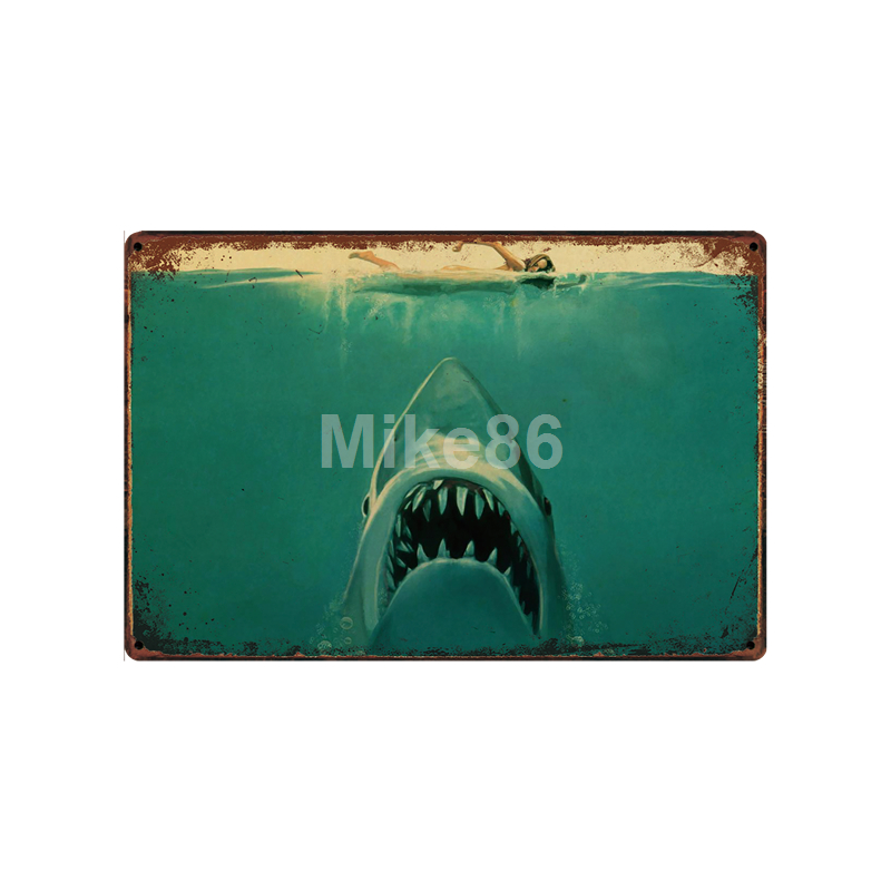 Mike86 Movie JAWS GOD FATHER Monkey Metal Sign Vintage Pub Store Retro Iron Painting art Poster Art 20 30 CM LT 1788 in Plaques Signs from Home Garden