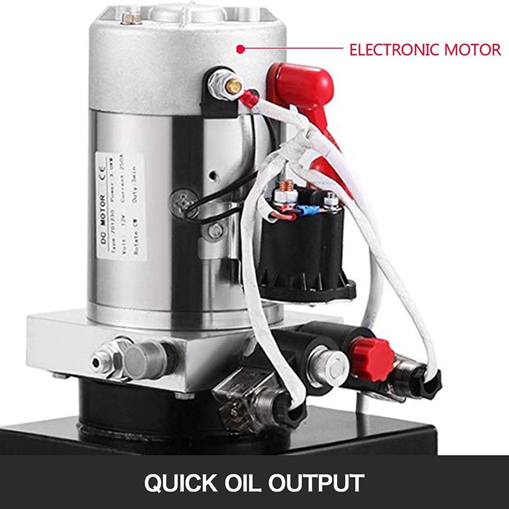 Centralina idraulica 8L Pompa a doppio effetto Potenza idraulica 12V - Utensili elettrici - Fotografia 3