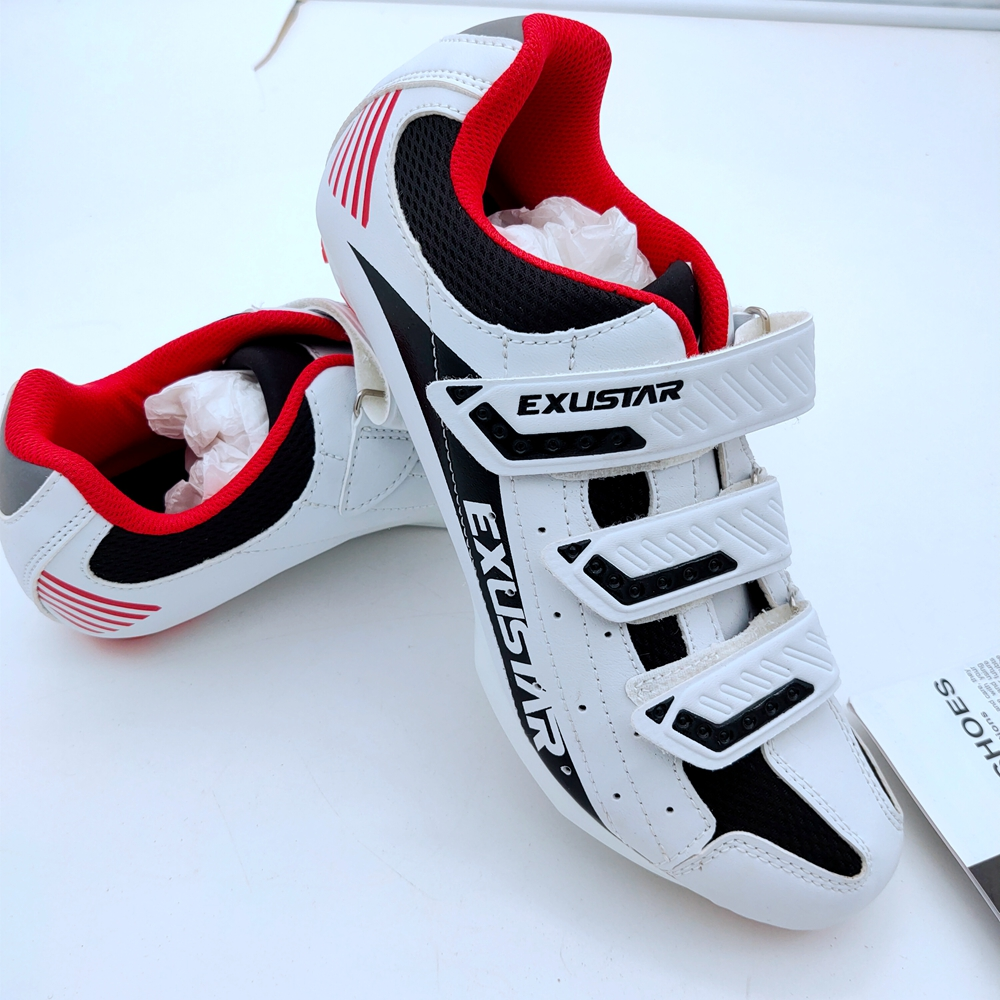 RACEWORK Bicycle Men's Or Women's Road Cycling Riding Shoes - 3 Velcro Straps - Compatible With Peloton Shimano SPD & Looking AR