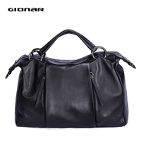 GIONAR High End Soft Cow Leather Luxury Handbags Women Bags Designer Handcrafted Satchel Crossbody Shoulder Top Handle Bag