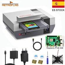 RETROFLAG NESPi 4 Case For Raspberry Pi 4 Case with SSD Cartridge Adapter Cooling Fan Heatsink for Raspberry Pi 4 ModelB