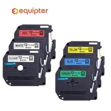 6pcs 12mm Combo set MK Label Tapes Compatible for Brother p-touch Label Printer ribbon M-K231 MK-231 mk231 MK131 MK431 531 m 231