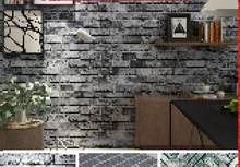 Modern Vintage Brick Textured Wallpaper For Walls Decor Embossed 3D Wall paper Rolls For Bedroom Living room Sofa TV Background(China)