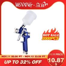 Wenxing 0.8mm/1.0mm bocal H 2000 profissional hvlp mini pistola de pintura a ar airbrush para pintura do carro aerográfico