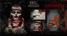 Boşluk! Yıldız ACE oyuncaklar SA6036 1/6 Annabelle bebek 15cm figürü sandalye modeli