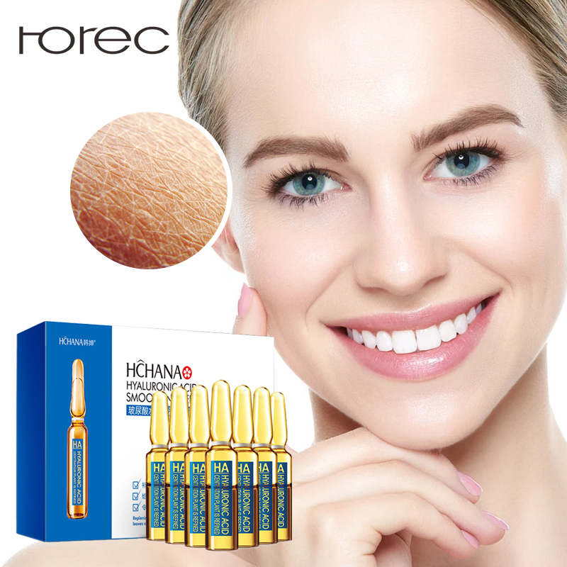 ROREC Hyaluronic Acid Ampoule Face Serum Shrink Pores Anti-Ance Nicotinamide Whitening Moisturizing Anti-Aging Wrinkle Skin Care