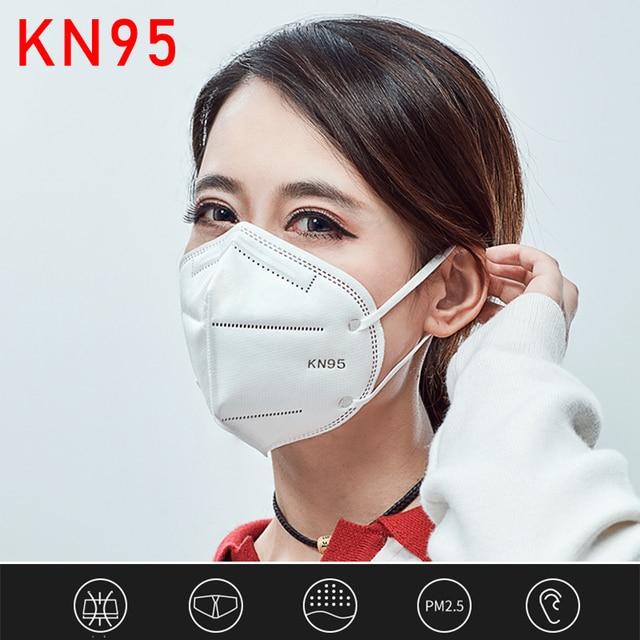 KN95 Face Mask Disposable Laye Mask Meltblown Cloth Masks Mascarilla Prevent Flu ffp3 masque Mouth Breathing Mask 95% Filtration 5