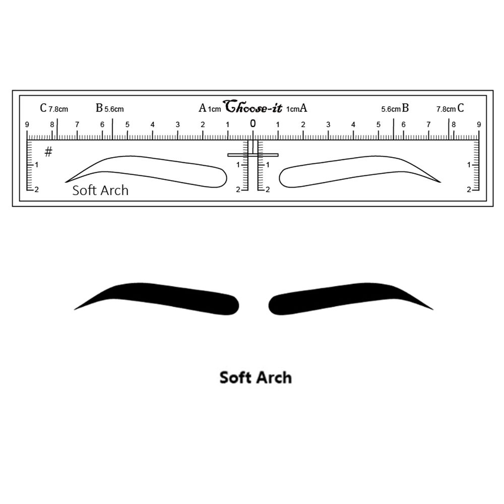 Microblading Eyebrow Makeup Stencils Stickers Permanent Makeup Supplies Disposable Eyebrow Mold Drawing Guide 10 Pieces