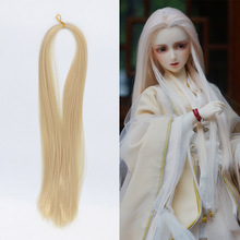 цена на 1pcs 80cm Bjd Doll Wig Transplant Tresses Bjd Wig Beautiful Princess Hair Long Hair DIY for BJD SD Fit for All Doll Accessories