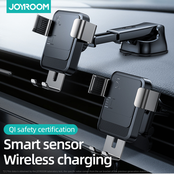 Joyroom 15w Qi Wireless Car Phone Holder charger Intelligent Infrared Fast Charger Stand Car Phone Holder for iPhone Huawei